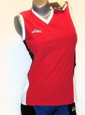 ASICS Chemise pour femmes taille M Rouge NEUF Offence MARCHE SPORT t- haut
