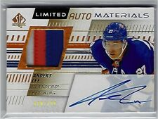 2019-20 SP Authentic Anders Lee Limited Auto Materials Patch Auto 88/100!
