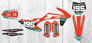 KTM SXF SX 2016 - 2017 125 250 350 450 Graphics KIT  Customised motocross gopro