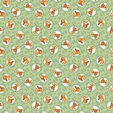 1 yard Disney Bambi Badge Fabric