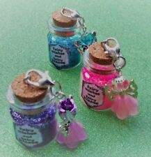 ✨Fairy Wishes and Fairy Kisses, Fairy Dust Bottle with removable Fairy Charm ✨