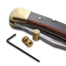 EDC Brass Knife Push Button Plate 3mm Knife Pusher Nail Screw Push Tool UK
