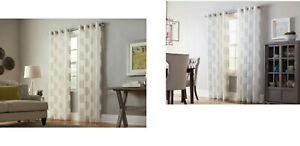 allen + roth Cressmar 84-in Camel OR MineralPolyester Sheer Single Curtain Panel
