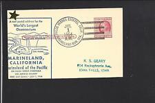 PALOS VERDES ESTATES,CALIFORNIA,MARINELAND RUR STA. ILLUSTRATED GPC, LA 1925/62