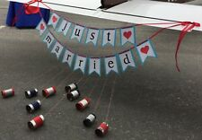 """Wedding Signs """"Mr & Mrs"""" & """"Just Married"""" Aviation Airplane Red Blue Theme"""