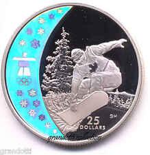 CANADA 25 DOLLARS VANCOUVER 2010 SNOWBOARDING MONETA ARGENTO FS PROOF