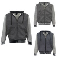 Mens Zip Up Fleece Lined Hoodie Winter Jacket Sweatshirt Gym Sport Casual Jumper