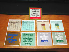 "9 Vintage Benson & Hedges Cigarettes Vending Machine Plastic Labels Tags 2"" x 2"""