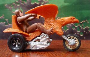Vintage 1972 Mattel Hot Wheels Rumblers Rrrumblers BOLD EAGLE Motorcycle & Rider