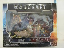 WARCRAFT LOTHAR vs BLACKHAND DELUXE FIGURE SET NEW BOXED
