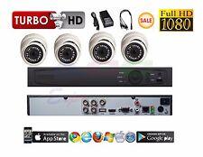 4 Channel HD-TVI Tribrid Turbo + 4 pcs 2MP TVI/CVI/AHD 2.8MM Dome 1080P Cameras