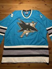 NHL San Jose Sharks Adizero Heim Authentisch Pro Trikot Sport Hemd Shirt Unisex