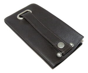 NEW key case leather dark brown bell keyring by Mala fathers day 581 26 verve