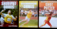 SHOT PUT Putter DISCUS Throw TRACK & FIELD COACH Olympic Drills 3 DVD Lot