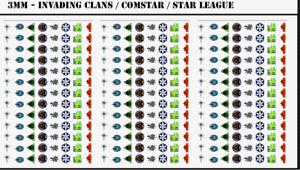BattleTech - 312x Small Waterslides Decals - Invading Clans/Comstar/Star League