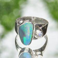 Echtschmuck aus Sterlingsilber mit 60 (19,1 mm Ø) Opal