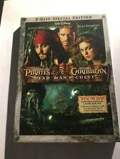 PIRATES of the CARIBBEAN DEAD MAN'S CHEST Movie on a 2 Disc DVD with JOHNNY DEPP