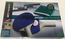 NEW Emerson Portable Table Tennis Set With 2 Paddles, 3 Balls, Posts And Net