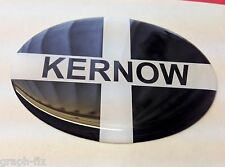 Cornwall Dome Car Badge Oval Sticker with Kernow Wording Cornish