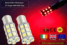 2x LED Ba15s P21W 1156 HID Red Strobe Flash Police Fog Bulbs Lamps Rear Lights