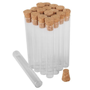 100pcs 4ml Tiny Glass Test Tube with Cork Stopper Size: 10mmx75mm