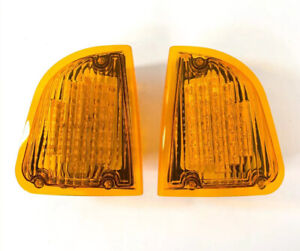 Pair Amber LED Turn Signal Lights For KW Kenworth K300 T300 T330 T600