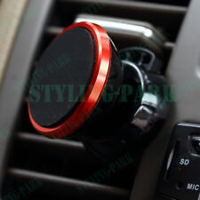 Red Car Suv Mobile Cell Phone Magnetic Air Vent Sticky Bracket Mount Holder Clip