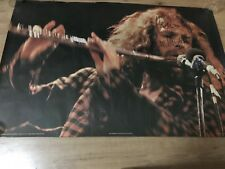 Genuine 1970 'Pace' poster of Ian Anderson of Jethro Tull - signed