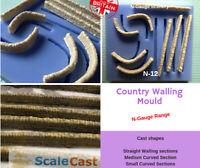 N-Scale Country Walling  - N12 - N Gauge model railway stone scenery