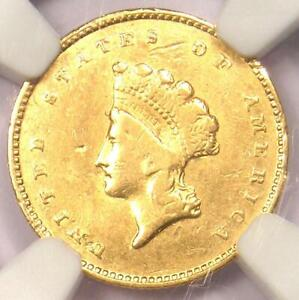 """1856-S Indian Gold Dollar (G$1 Coin) - Certified NGC XF Detail - Rare """"S"""" Mint!"""