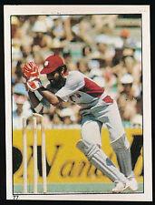 1983 Scanlens Cricket Sticker unused number 77 Jeff Dujon