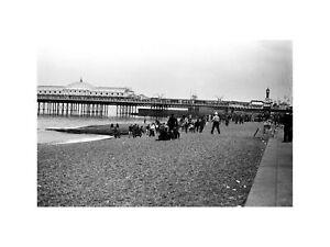 Mods and Rockers Fighting on Brighton Beach Brighton UK 1964 Print 60x80cm