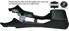 ORANGE STITCHING CENTRE CONSOLE & ARMREST LEATHER COVERS FITS BMW E39 1996-2003