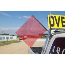 1 Quick Mount Flag Assembly with 1 Mounting Bracket - RED - oversize load