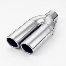 Dual 2 1/4 inch Outlet 2 inch In 10 Long Bolt-on Exhaust Tip 304 Stainless Steel