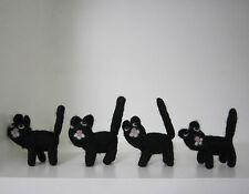 SETENGA süüüüüs!!  schwarze Katze ANSTECKNADEL Filz gefilzt schwarzer Kater