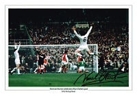 LARGE NORMAN HUNTER SIGNED PHOTO AUTOGRAPH COA LEEDS UNITED UTD FA CUP 1972