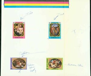 Anguilla 1971 Easter Paintings COMPOSITE PROOF SHEET