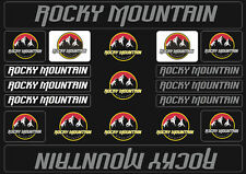 Rocky Mountain  Bicycle Frame Decals Stickers Graphic Adhesive Set Vinyl Gray