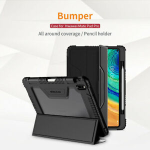 "For Huawei Mate Pad Pro 10.8"" Shockproof Bumper Leather Case Cover with HD Film"