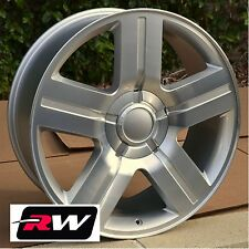 Chevy Silverado Wheels Texas Edition Rims Replica Silver Machined 20x8.5 20 inch