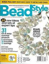 Bead Style magazine Pearls Summer projects Necklaces Braceletes Earrings Metals