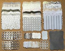 46 Piece Sizzix Stampin Up Top Note, Tag and Lattice Set Formal Affair w/silver