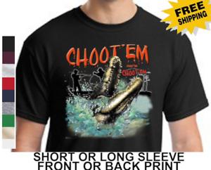 Choot Em Swamp People Alligator Hunting Troy Louisiana Swamp Men's T-Shirt