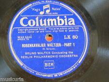 "78rpm 12"" BRUNO WALTER - BERLIN PHILharmonic rosenkavalier waltzes 1&2 , LX 60"