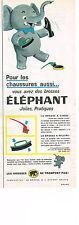 PUBLICITE  1960   ELEPHANT  brosse à chaussures