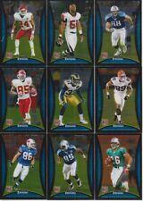 2008 Bowman Chrome Football Rookie 9 Card Lot Brandon Flowers #BC21/18/32/35/20/
