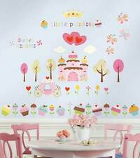 RoomMates Wandtattoo Cupcake Castle Schloss Kinderzimmer Prinzessin SONDERPREIS