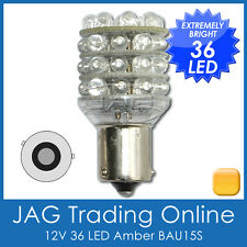 12V 36-LED BAU15S 5009 AMBER INDICATOR GLOBE - Auto/Trailer Blinker Light Bulb