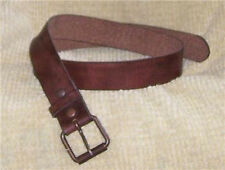 BROWN Vintag Look Cas Jeans LEATHER Snap  BELT 36